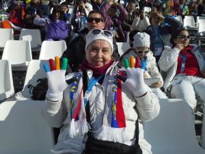 """На Олимпийских соревнованиях """"Горные лыжи"""""""