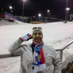 "На Олимпийских соревнованиях ""Сани"" в Центре санного спорта"