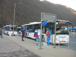 "Олимпийский автобус привёз нас на соревнования ""Сани"""