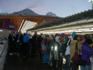В Центре санного спорта во время Олимпиады в Сочи 2014