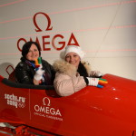 """Партнёр Олимпиада 2014 """"Омега"""" предоставил возможность гостям парка спортивные ,бобслейные сани"""